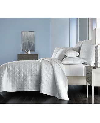 Hotel Collection Embroidered Frame Quilted King Coverlet Created For Macy S Reviews Quilts Bedspreads Bed Bath Macy S Hotel Collection Mattress Furniture Bedding Collections