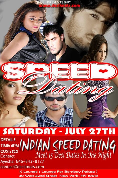 Speed dating movie poster girl in red