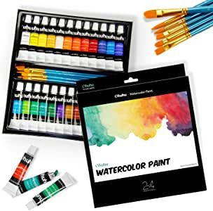24 Vivid Colors Watercolor Paint Tubes A Variety Of Fresh And