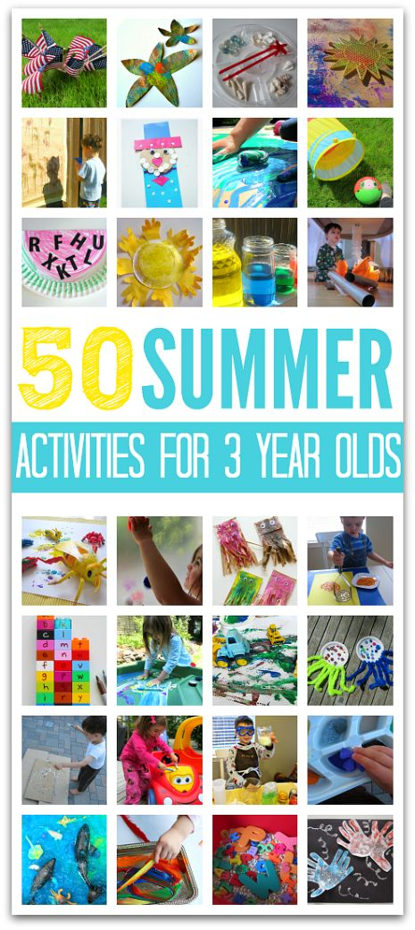 Great list of summer activities for 3 year olds !