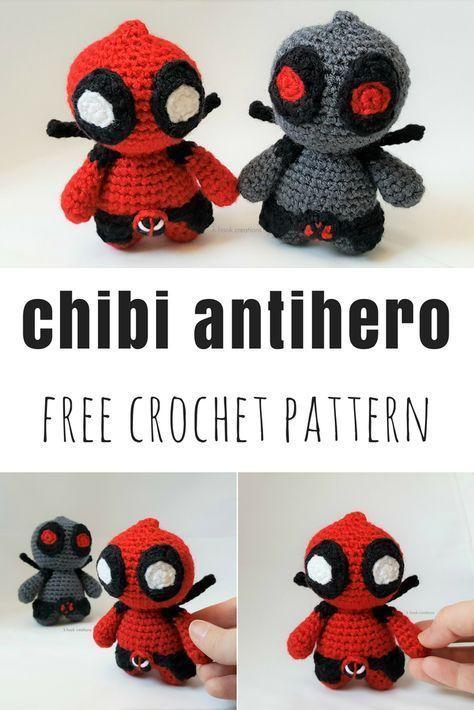Crochet Doll Pattern - Super Hero DeadPool (Guichai Dolls Pattern ... | 710x474