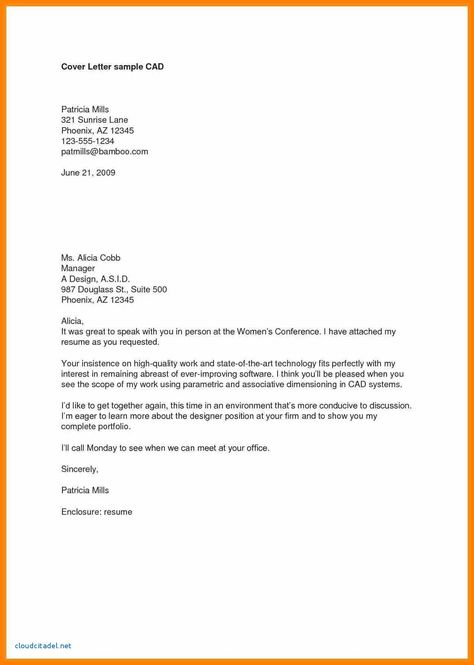 27 Cover Letter Enclosure In 2020 Resume Cover Letter Examples