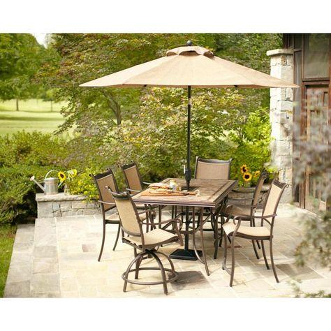02ec1f8a50f Hampton Bay Westbury Swivel Patio High Dining Chair (2-Pack)-S2-ADQ27113 -  The Home Depot