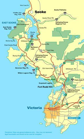 Map Of Canada Victoria Island Map Victoria To Sooke Vancouver Island BC Canada   Victoria