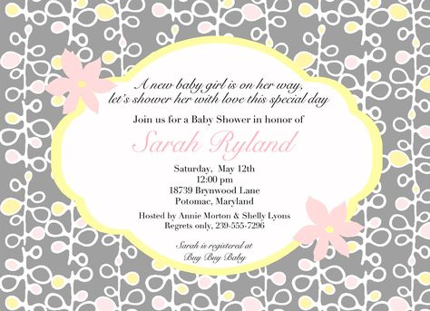 Download FREE Template Baby Shower Invitation Wordings Baby - how to word baby shower invitations