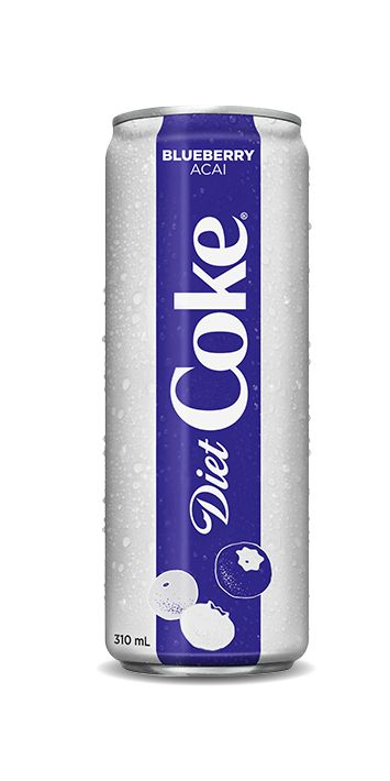 how much caffine in blueberry diet coke