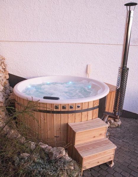 Badefass Hot Tub Edelstahlofen Integriert O 200 Cm In 2021 Badefass Edelstahlofen Fass