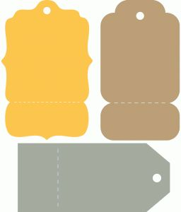 View Design #80764: perforated gift tag set