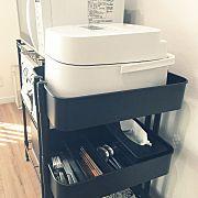 炊飯器 Ikea セリア キッチン キッチンワゴンのインテリア実例 2019 03 16 08 54 26 Roomclip ルームクリップ インテリア 収納 キッチンワゴン 無印良品 収納 キッチン