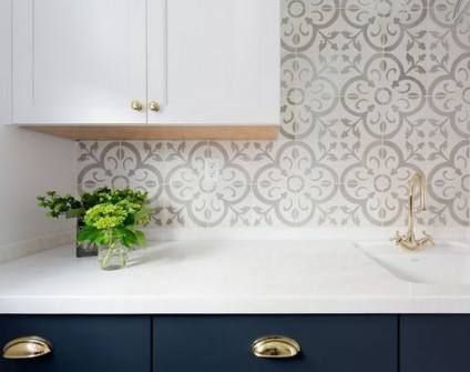 19 Ideas For Kitchen Tile Backsplash Pattern Back Splashes Kitchen Tiles Backsplash Patterned Tile Backsplash Backsplash Wallpaper