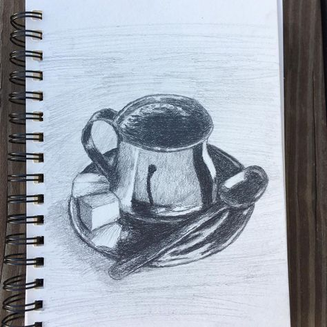 "Kevin Pichette on Instagram: ""A cup of coffee . . . #coffee #illustration #sketch #drawing #dailydrawing #dailydrawings #dailysketch #dailysketches #pencilart…"""