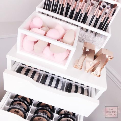 Clean up your makeup collection with The Cosmetic Archive's line of IKEA Alex drawer organizers and Brush Holders. Perfect for the makeup addict in all of us. Makeup Organizers by The Cosmetic Archive. Cosmetic Organizers.