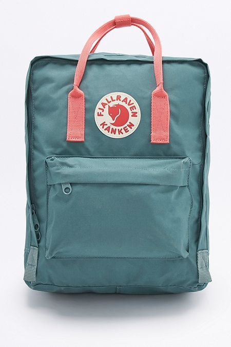 Fjallraven Kanken Classic Forest Green and Pink Backpack - Urban Outfitters.