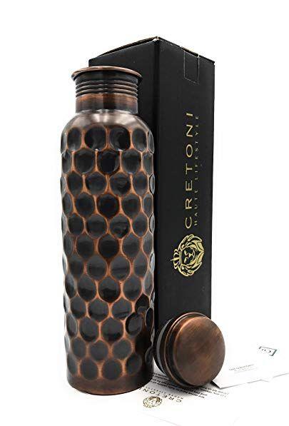 Mindful Design Pure Copper Polished Leak-Proof Ayurvedic Water Bottle