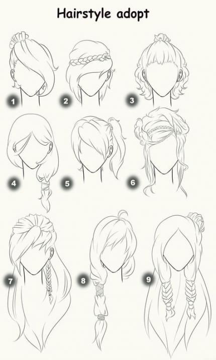 Hair Bangs Pony Tails Easy Hairstyles 46 Ideas Sketches Drawings Drawing Techniques