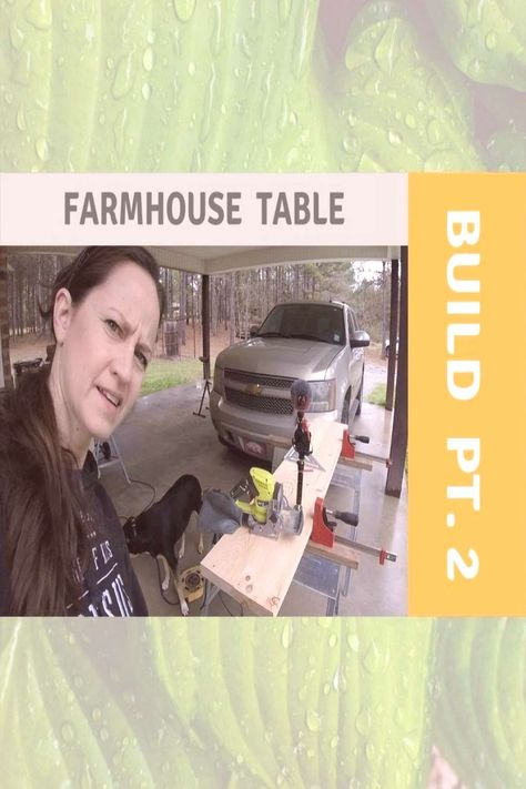 #farmhouse #homestead #table #build #click #video #part #link #full #bio #for #in #on #2 Part 2 Farmhouse Table Build. Click link in bio for full video onYou can find Home stead and more on our website.Part 2 Farmhouse Table B...