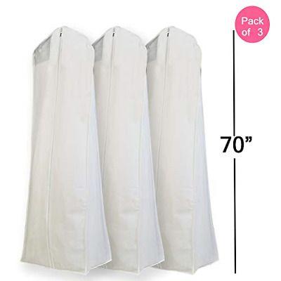 Wedding Gown Dress Garment Bag Non Woven Large Dustproof Moisture Proof Storage Fashion Clot In 2020 Dress Garment Bags Wedding Dress Storage Crinoline Wedding Dress