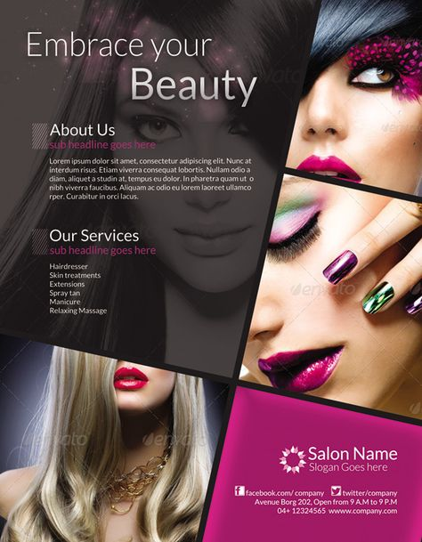 Buy Classy Salon Flyer/ Magazine Ad by ingridk on GraphicRiver. Classy Salon Flyer/ Magazine Ad It Can be used in any Business like beauty salon,spa,hairdresser etc CMYK Color profi.