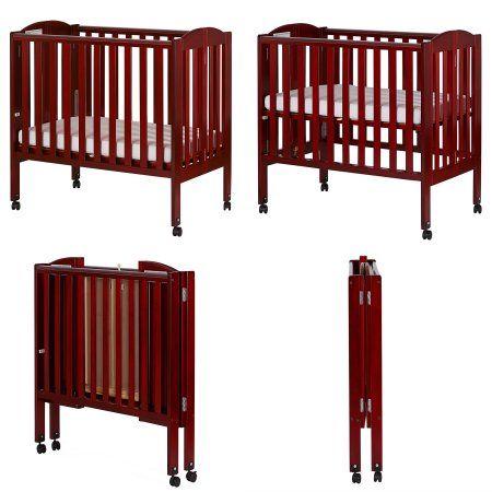 Dream On Me 2 In 1 Folding Portable Crib White Image 7 Of 7 Cribs Portable Baby Cribs Foldable Crib
