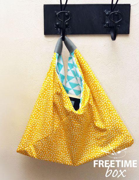 Hello, Aujourd'hui voici comment faire un sac Bento réversible. Il vous faudra : - les 2 coupons de tissus - du simili cuir - le fils et l'aiguille (ou votre machine à coudre) - une paire de ciseau...