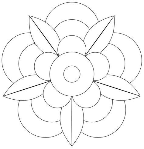 196 Dibujos De Mandalas Para Colorear Faciles Y Dificiles En 2020