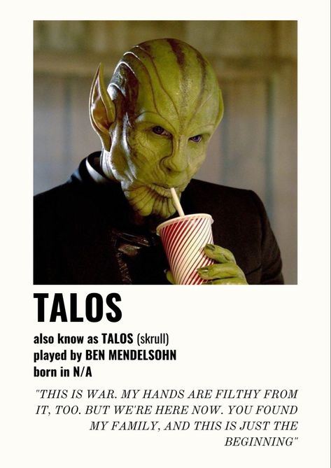 Poster Talos w/ quotes
