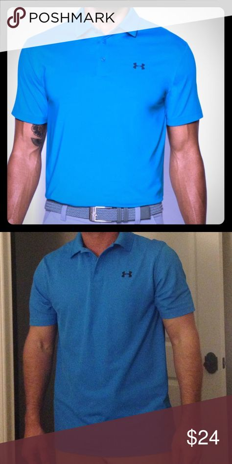 💪Under Armour Polo shirt I have a very nice Under Armour Men's Polo shirt. Online now for $67.99. No holes, stains, looks new! All my items come from a clean, non smoking home. Under Armour Shirts Polos