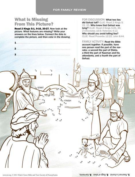 Gehazi Tells Lies Activities Bible Crafts Bible Teachings