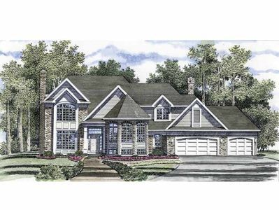 T Shaped Staircase American Houses House Plans Architectural Design House Plans