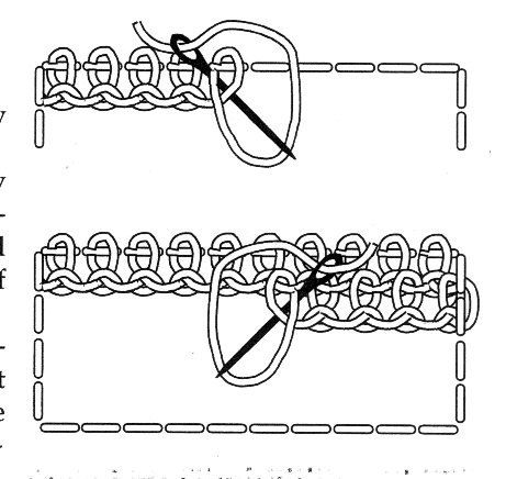 The knotted detached buttonhole stitch stitch-diagram Here it is again: I have really struggled with this stitch. Let me show you my practice cloth.Another stitch to try. Needlepoint Stitches, Hand Embroidery Stitches, Diy Embroidery, Embroidery Techniques, Cross Stitch Embroidery, Embroidery Patterns, Needlework, Lace Patterns, Needle Tatting
