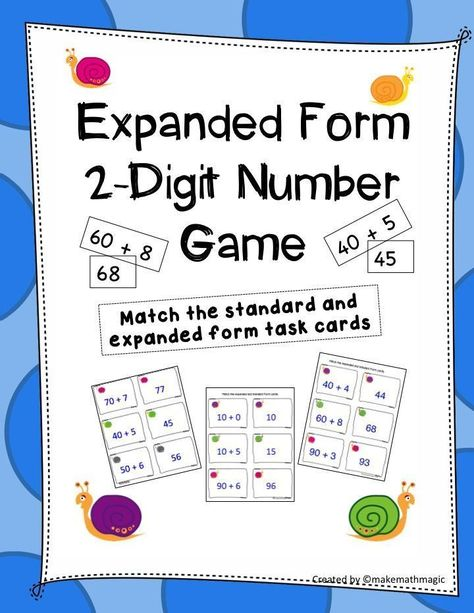 expanded form 68  Expanded Form Using 9-Digit Numbers | Math | Expanded form ...