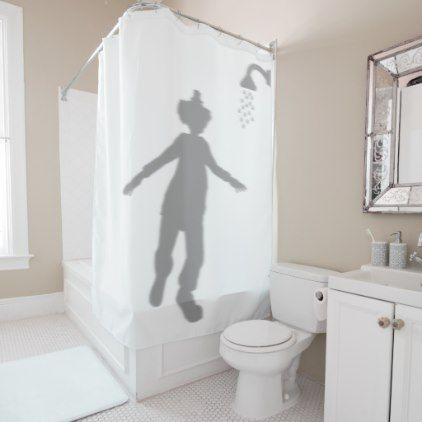 Clown Behind Silhouette Shadow Halloween Scary Shower Curtain Zazzle Com Funny Shower Curtains Scary Shower Curtains Cool Shower Curtains