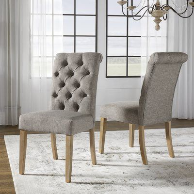 Greyleigh Ashcraft Tufted Upholstered Side Chair Dining Chairs Upholstered Side Chair Side Chairs