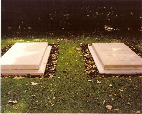 Duke and Duchess of Windsor Grave Markers of the Duke and Duchess of Windsor at Frogmore Burial Ground, Windsor.