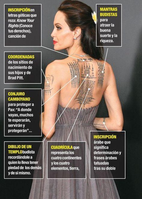 Thailand tattoo Angelina jolie tattoo Buddhist tattoo Celebrity tattoos Thai tattoo Yantra tattoo - Children of Brad Pitt and Angelina Jolie Hijos de Brad Pitt y Angelina Jolie Children of Brad -
