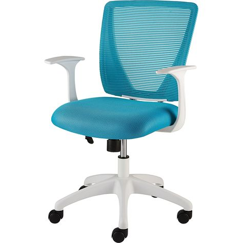 Get Free Shipping On Your Qualifying Orders Of Staples Vexa Mesh Chair White Teal Comfy Office Chair Teal Office Decor Office Chair Cover