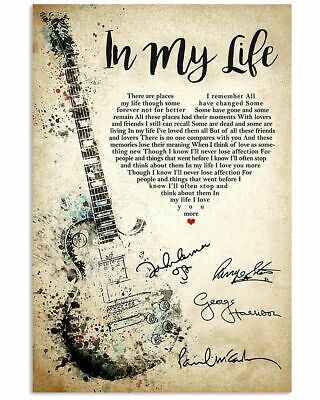song lyric print poster prints
