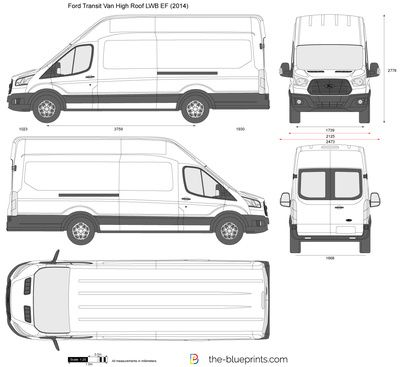 Ford Transit Van High Roof Lwb Ef Vector Drawing Transitional