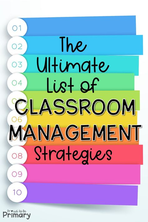 Classroom Management Strategies: The Ultimate List – Proud to be Primary