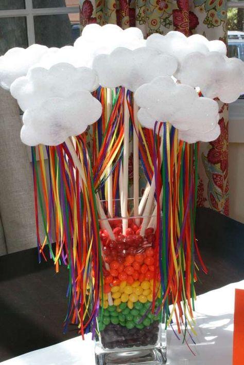 Rainbow Party  Birthday Party Ideas | Photo 1 of 20