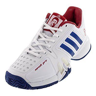 Adidas Barricade Novak Pro Men S Tennis Shoe White Blue Red Review Adidas Tennis Shoes Tennis Shoes Mens Tennis Shoes