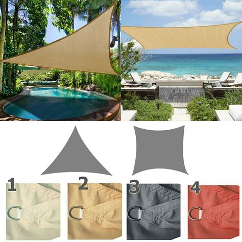 Sail Shade Sun Canopy Patio Awning Screen Garden 98/% UV /& Waterproof Outdoor