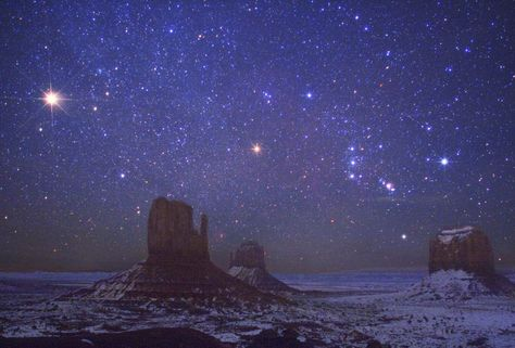 mars, orion...Monument Valley...and snow. Wow!