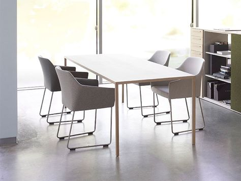 Arco Design Eettafel.Arco Slim Tafel Fineer Eiken Arco Dutchdesign Office
