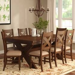 Poe Extendable Dining Set In 2020 Solid Wood Dining Set Dining