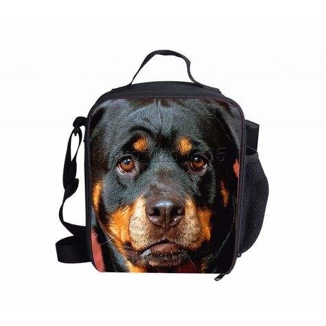Portable Insulated Thermal Lunch Box Carry Bag Black Dog Food