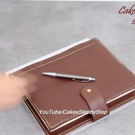 """CakesStepbyStep 🍰 on Instagram: """"Notebook Chocolate Cake. Full video on YouTube/CakesStepbyStep #cake #chocolate #cakedecorating #instagood #instadaily #instacool #eat…"""""""