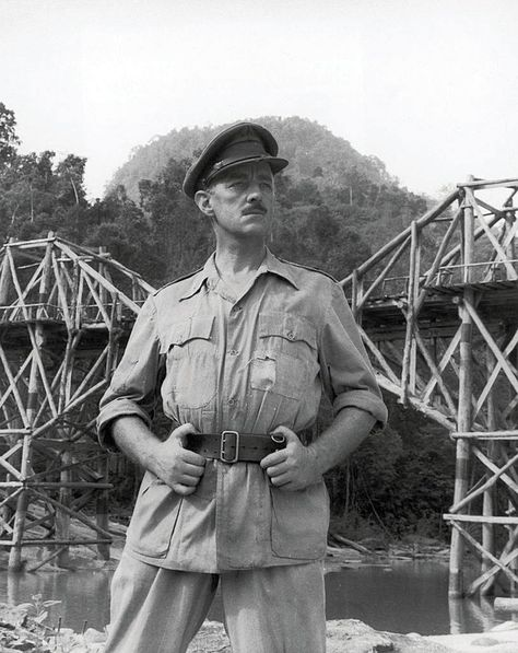 Sir Alec Guinness In The Bridge On The River Kwai 1957 He Also Served In Active Duty During World War 2 In The Roya Landing Craft Movie Stars Over The River