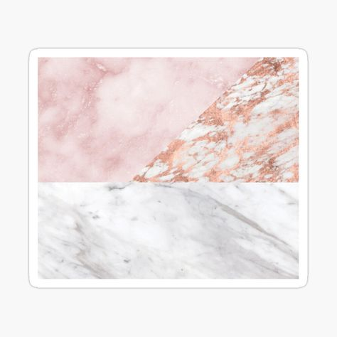'Mixed pinks rose gold marble' Canvas Print by peggieprints