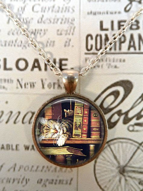 Book Necklace, Keep Calm, Literacy Necklace, Library, Librarian, Heart, Love Books T829